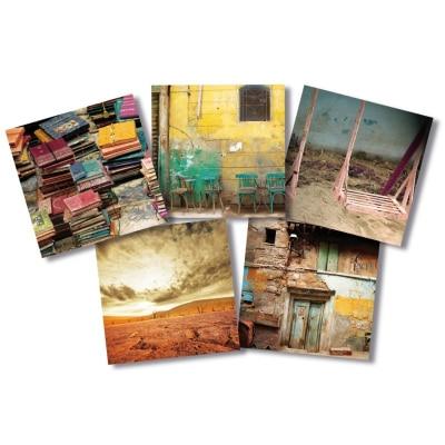 Série de 5 cartes différentes